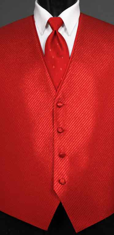 Red Metallic Vest from the Synergy collection with Diamond Metallic Windsor tie