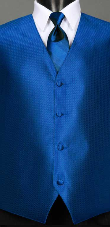 Royal Blue Devon vest with Royal Blue Ombre Windsor tie