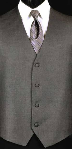 Steel Grey Madison Wool Suit Vest. Shown with Victorian Lilac striped Windsor Tie