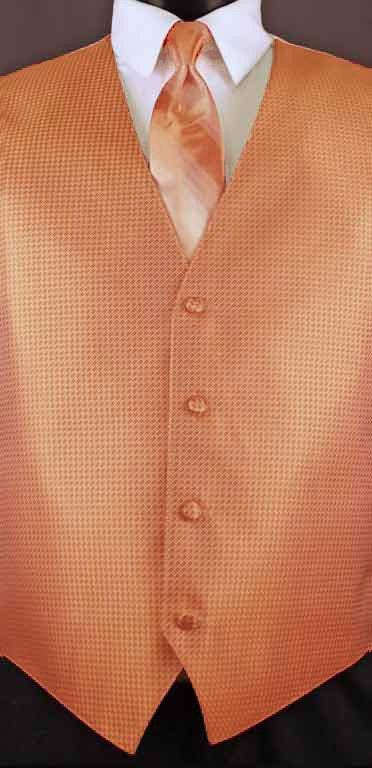 Tangerine Devon vest with tangerine ombre windsor tie
