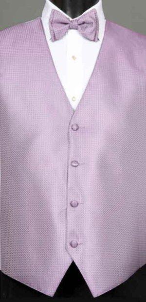 Wisteria Devon vest with matching bow tie