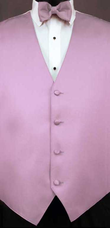 Wisteria simply solid vest with matching bow tie