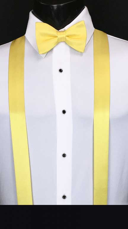 Sunbeam simply solid suspenders with matching bow tie