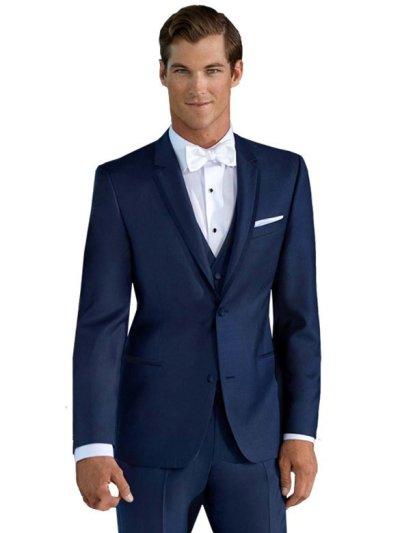 Azure Broadway Tuxedo worn with white bow tie
