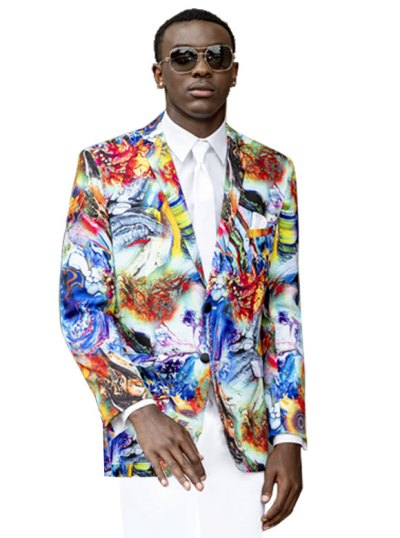 Hendrix Abstract print tuxedo by Mark of Distinction