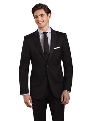 Black 2 Button Suit