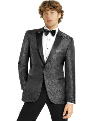 Charcoal Paisley Dinner Jacket