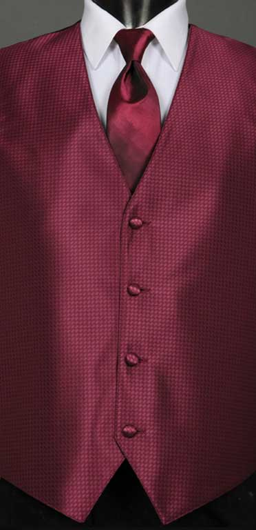 Wine Devon Vest with Wine Ombre Windsor Tie