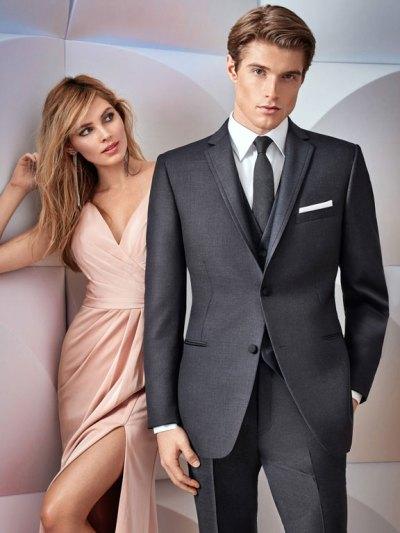 Charcoal Grey Manhattan Wedding Suit