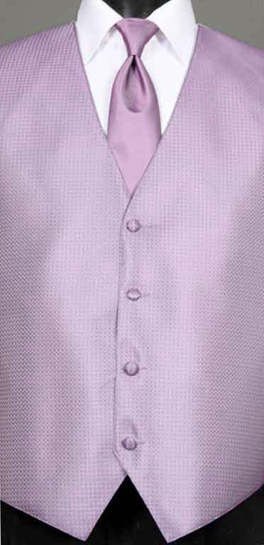 Wisteria Devon vest with matching windsor tie