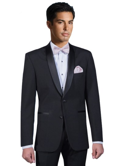 Black Cyprus shawl collar tuxedo by After Six Formals