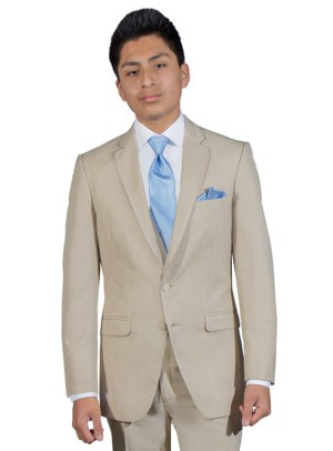 Tan Bartlett Suit by Allure Men