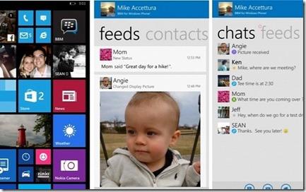 Tampilan BBM di Windows Phone