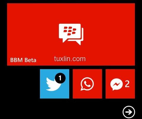 Review BBM for Windows Phone di Nokia Lumia 520 1
