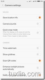 Antarmuka Kamera Xiaomi Mi 4c