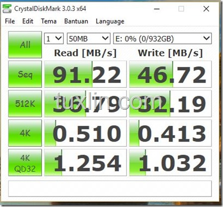 Benchmark Hitachi Touro 1TB