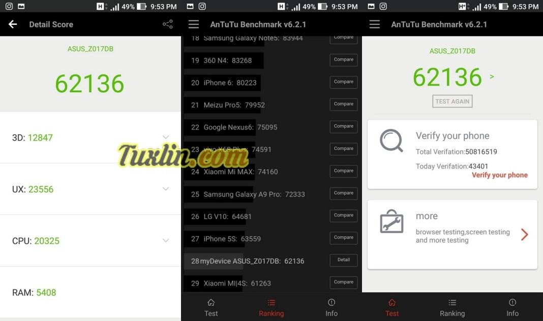 Benchmark AnTuTu v6 Asus Zenfone 3 ZE520KL