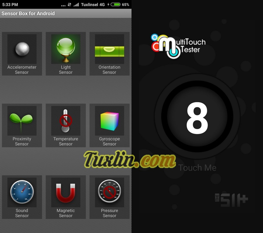 Sensorbox for Android & Multitouch Tester Xiaomi Redmi 3S