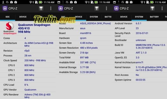 CPU-Z Asus Zenfone Go ZB450KL