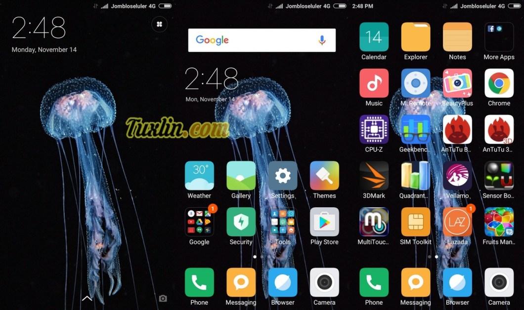 Tampilan Antarmuka Xiaomi Redmi 3X