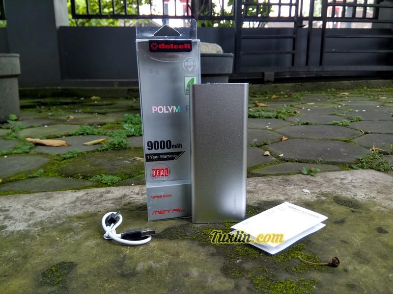 Paket Pembelian Delcell Metal Super Slim 9000mAh