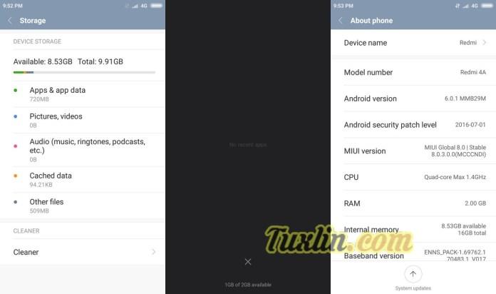 Memori Xiaomi Redmi 4A