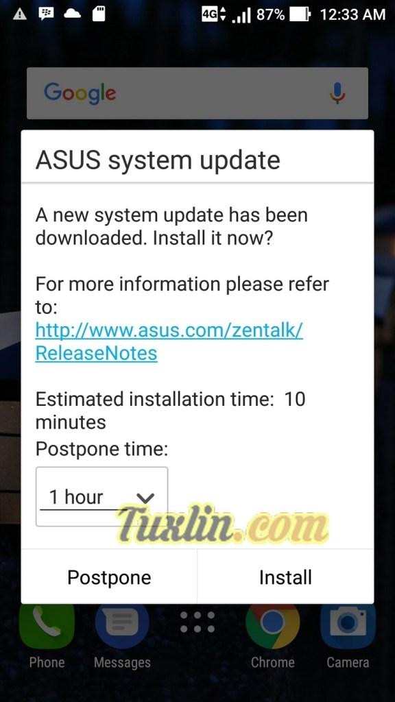Cara Upgrade Android 7.1.1 Nougat di Asus Zenfone Zoom S ZE553KL 11