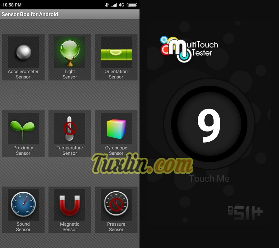 Sensorbox for Android & Multitouch Tester Xiaomi Redmi 4X
