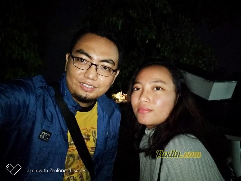 Hasil Foto Kamera Depan Asus Zenfone 4 Selfie Pro ZD552KL Malam Hari dengan LED Flash