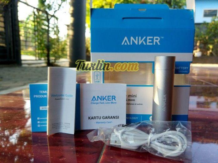 Paket PenjualanAnker PowerCore+ Mini 3350mAh