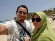 Selfie di pantai