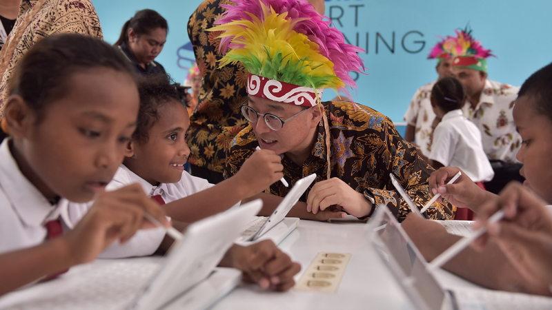 Samsung Smart Learning Class (SSLC), Sekolah Berbasis Teknologi Dibuka di Biak Papua 13