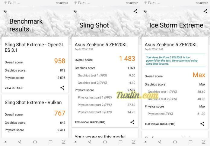 Benchmark 3DMark Asus Zenfone 5 ZE620KL