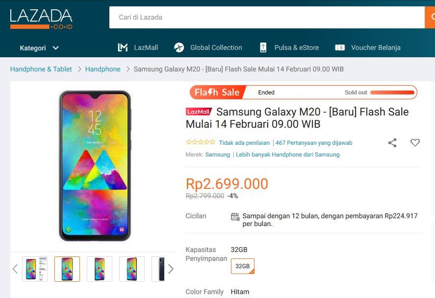 Ikutan Flash SaleSamsung Galaxy M20