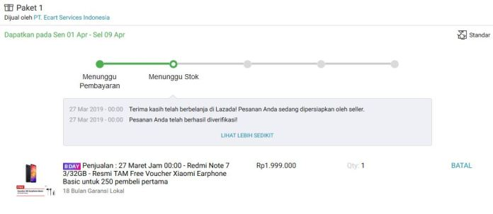 Suka Duka Ikutan Flash Sale Redmi Note 7 di Lazada 3