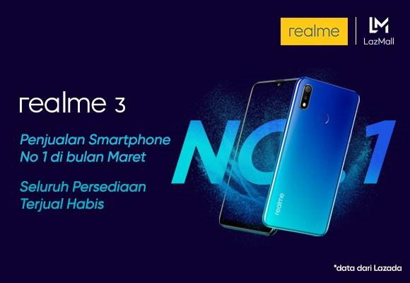 Penjualan Realme 3 Diklaim Terbaik, Kini Tersedia di Seluruh Indonesia 1
