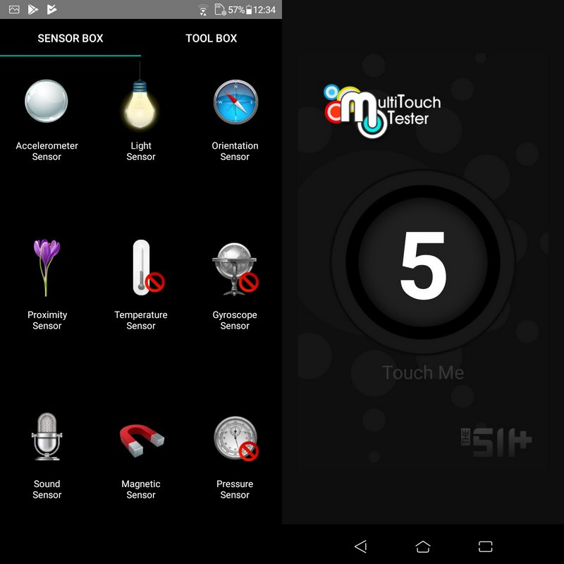 Sensorbox for Android & Multitouch Tester Asus Zenfone Live L2