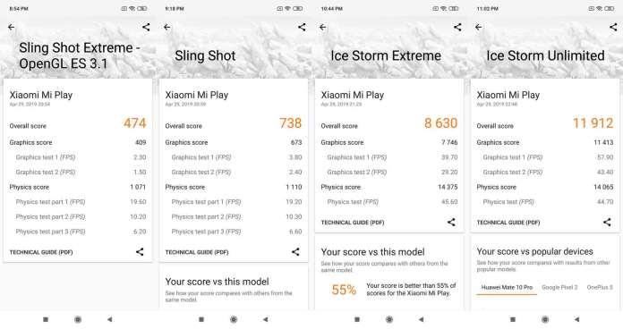 Benchmark 3DMark Xiaomi Mi Play