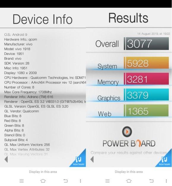 Benchmark Basemark OS II Vivo Z1 Pro