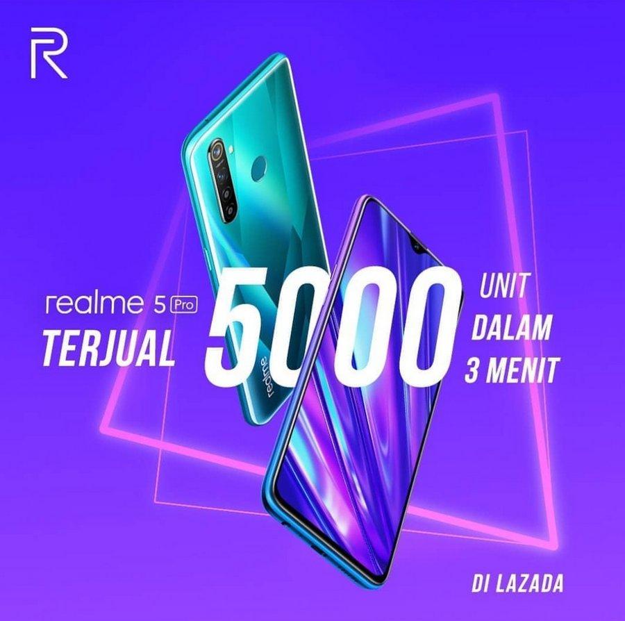 Realme 5 Pro Ludes Terjual 5.000 Unit Dalam 3 Menit 1