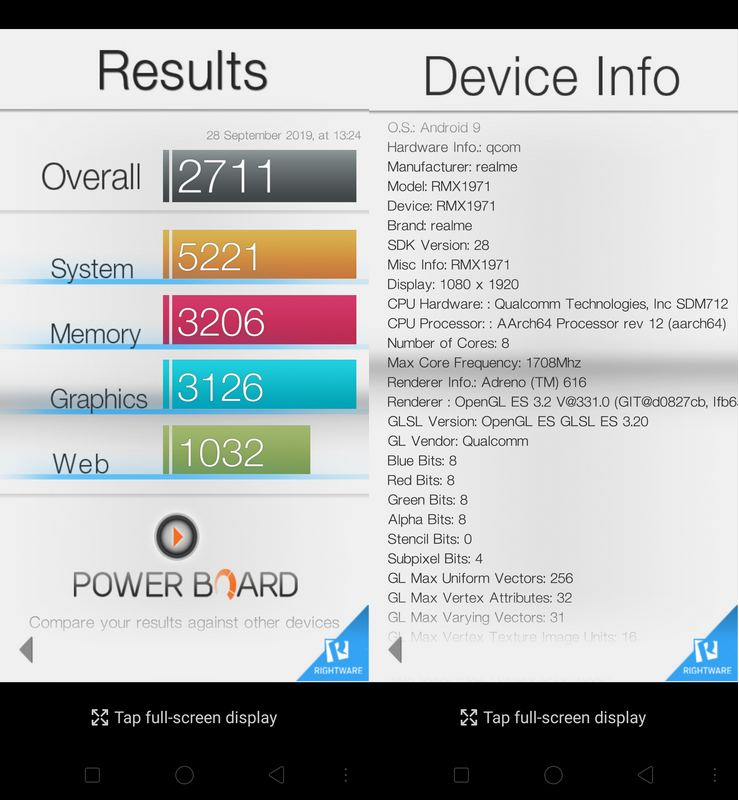 Benchmark Basemark OS II Realme 5 Pro