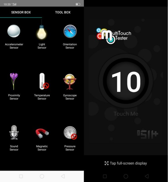 Sensorbox for Android & Multitouch Tester Realme 5 Pro