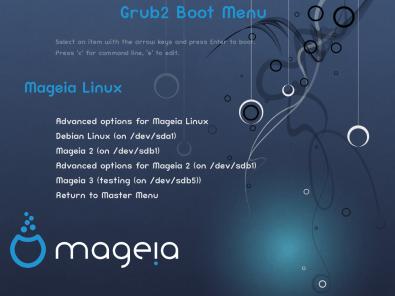 Mageia 3 RC Grub 2