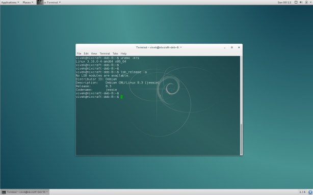 Debian 8.3 Xfce