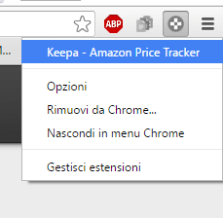 Keepa amazon estensione