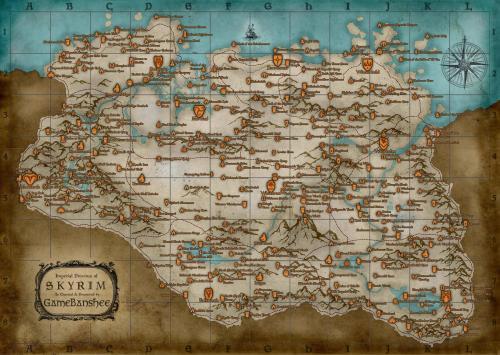mappa completa skyrim