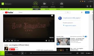 Un video a caso da YouTube. Notate le varie sezioni integrate in alto.