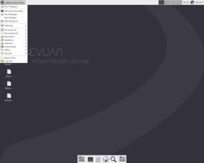 Devuan 2.0.0 ascii, Xfce, Desktop.