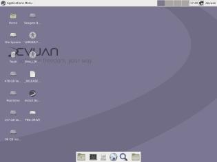 Devuan 1.0.0 Jessie, Xfce, Desktop.