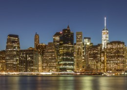 Foto's New York - Manhattan Skyline by Night panorama | Foto Tux Photography